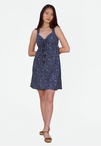 Aanya blue Blue Mandala Midi Dress CD4AEAA2427D4CGS_1