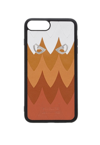 POROLUXE brown PHONE CASE FOR IPHONE 6+/7+/8+ 88B78AC96B0490GS_1