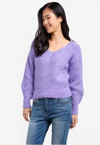 Mango purple Chunky-Knit Sweater MA193AA0RZ0HMY_1