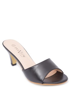 Slip On Heeled Sandals