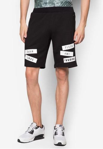 文字esprit taiwan拼貼短褲, 服飾, 短褲
