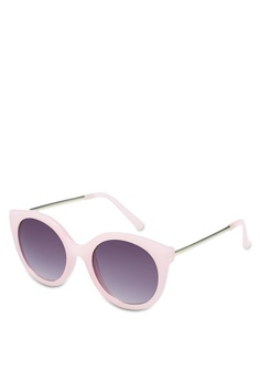 764d3a65723 Jeepers Peepers pink Pink Round Cat Eye Sunglasses B32C2GL66AC6B4GS 1