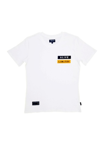 L.I.M.I.T.E white Regular fit Emb. Patch TEE 8D394AAB343249GS_1