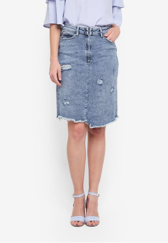 ESPRIT blue Vintage Denim Mini Skirt 97E66AA841DA6BGS_1