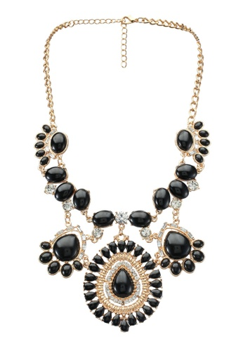 Red's Revenge black Indian Princess Statement Necklace RE144AC0SSTWMY_1
