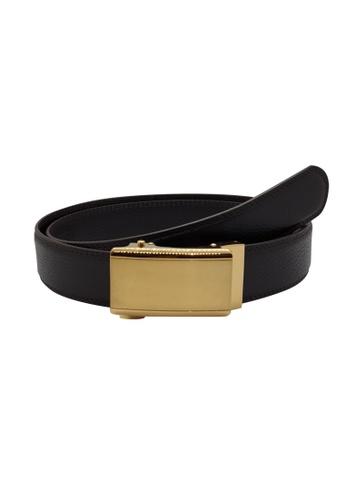 Oxhide brown Business Belts - Real Leather Ratchet Belt for Men - Automatic Buckle Belt - ABB3C Oxhide D6153AC4CE1C17GS_1