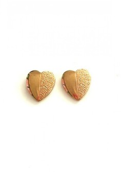 Stainless Steel Golden Heart Stud