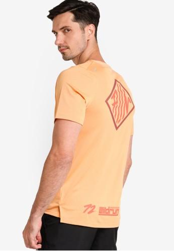 Nike orange Men's Dri-FIT Rise 365 Wild Run Top 270A3AA1E74F8BGS_1
