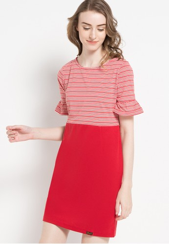Gaff red Cordelia Dress Stripe GA640AA77GSWID_1
