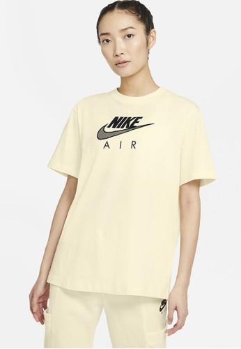 Nike yellow Women's Sportswear Air Boyfriend Top 1505EAA7BA9475GS_1