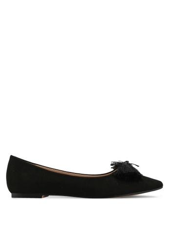 Velvet black Bow Detail Ballerina A396BSH8D2F95AGS_1