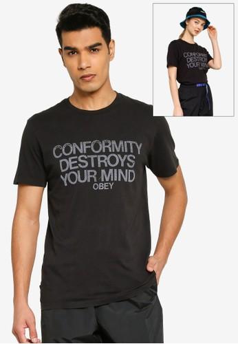 OBEY black Obey Conformity Destroys Tee 8C60CAA35F87B9GS_1
