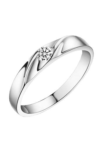 Elfi silver Elfi 925 Genuine Silver Engagement Ring R7 - The Never Ending Love 16CBDAC6E34968GS_1