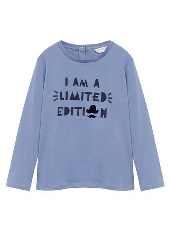 MANGO BABY blue Printed Message T-Shirt 97E4CKA784B5C6GS_1