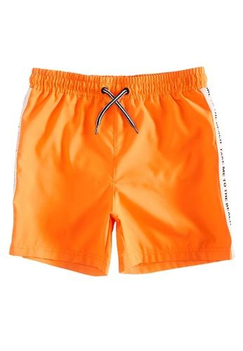 LC Waikiki orange Boy's Side Striped Swim Shorts 89CEFKA55B7FC7GS_1