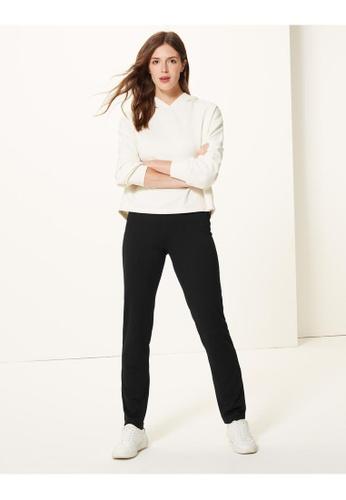 MARKS & SPENCER black M&S Slim Leg Trousers C390FAAE4E79B4GS_1
