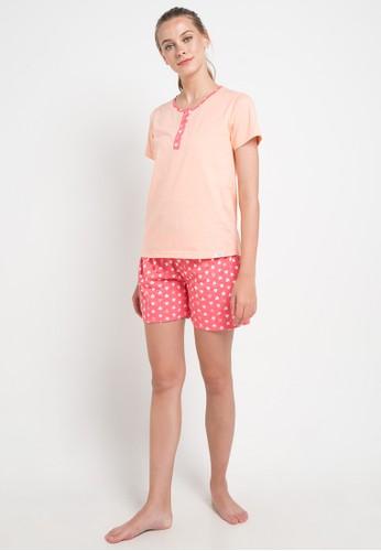 Puppy pink and orange Print Love Sleepwear 73A37AAF331C97GS_1