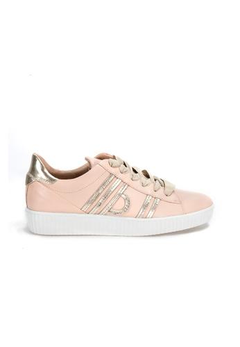 Shu Talk 粉紅色 大熱復古淡粉紅真皮綁帶輕便運動鞋 C1B59SHA3F8BF0GS_1