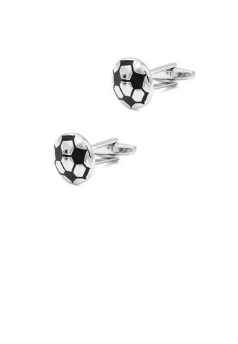 Glamorousky silver Fashion Simple Round Football Cufflinks D90EAAC10707CBGS_1