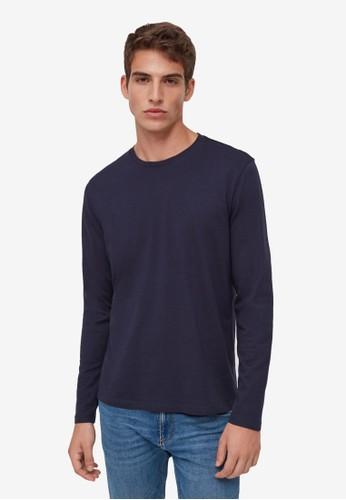 OVS navy Long Sleeves T-Shirt 116CBAAFB4C8CEGS_1
