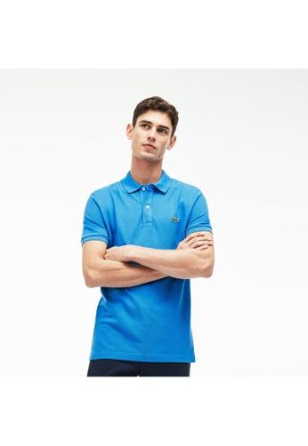 Lacoste blue Lacoste Men's Slim Fit Polo Shirt in Petit Piqué C0690AA9A0BFFBGS_1
