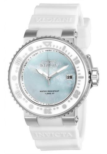 Invicta white Invicta Pro Diver Men 40mm Case White Silicone Strap Light Blue, Antique Silver Dial Quartz Watch 22668 IN968AC0F5FXSG_1