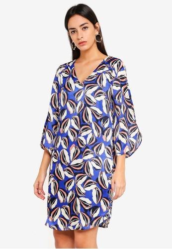 Vero Moda blue Raja 3/4 Dress 3E5BEAA13C4237GS_1