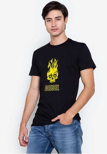 Diesel black T-Diego-A11 T-Shirt 41DB2AA30F46ACGS_1