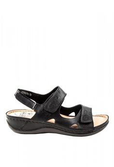 165fd2761 Otto black Slingback Velcro Strap Sandals EA906SH14635F9GS 1