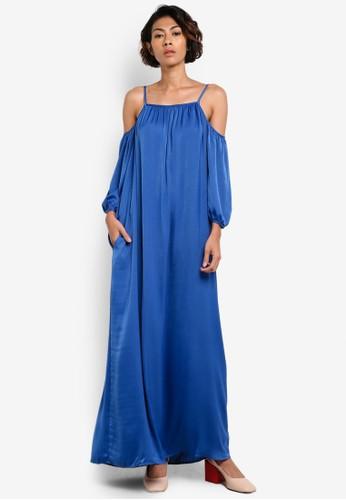 Mango blue Off-Shoulders Dress MA533AA24TQLID_1