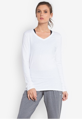 Champion white Jersey Long Sleeve Tee S16 100 CH632AA0KDAWPH_1