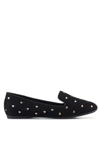 VINCCI black Studded Loafers C29F3SH2044E76GS_1