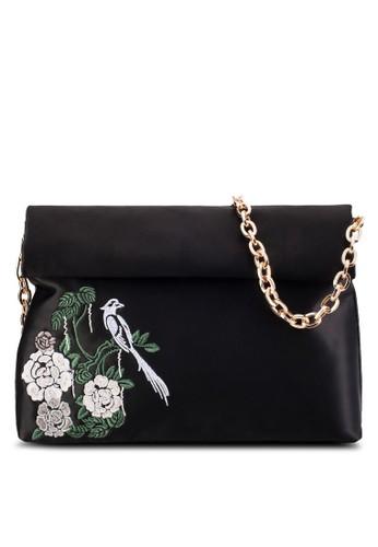 刺繡圖案折疊鏈飾手拿包,esprit outlet 桃園 包, 包