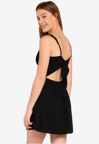 Hollister black Woven Slimwaist Tieback Dress 422BFAA9118240GS_1