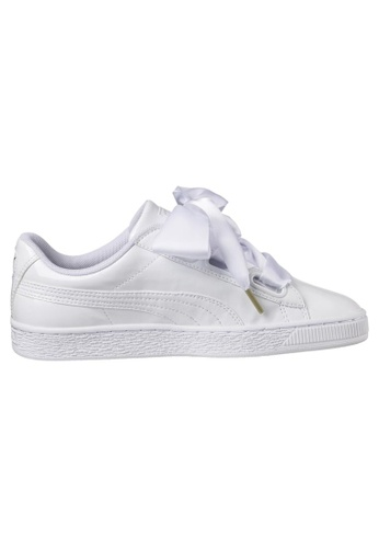 separation shoes df3af 48494 PUMA Basket Heart Patent Women's Sneakers 363073