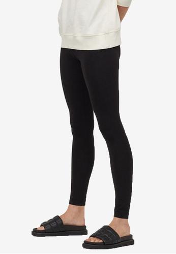 H&M black Cotton Leggings C6E53AAECD2D02GS_1