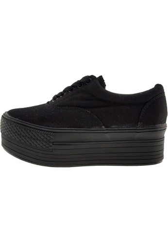 Maxstar 黑色 新款韩国鞋C50-5H時尚帆布布混合女黑色 US Women Size MA345SH91GTOTW_1
