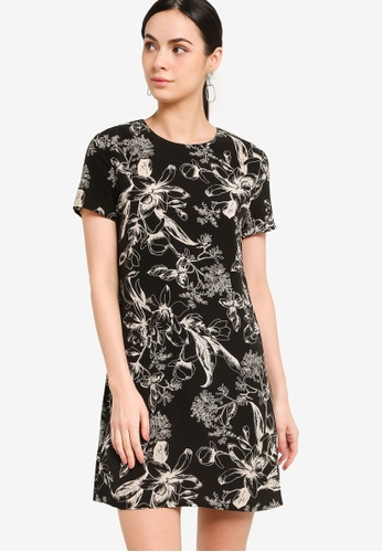 ZALORA WORK multi Mini Shift Dress FBEB7AA9B6551DGS_1