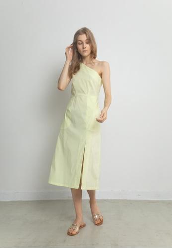 TAV yellow [Korean Designer Brand] Asymmetric Dress - Yellow 608B7AACFFDAEDGS_1