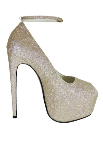5d7b9e591c32 Jacque gold Party Champagne Heels with Strap JA262SH05ERIMY 1