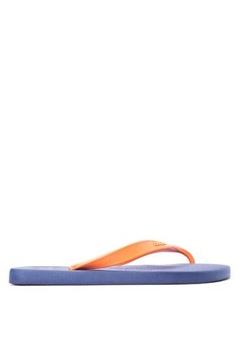 Dupe orange and navy Aftersport Flip Flops DU626SH11EZSPH_1