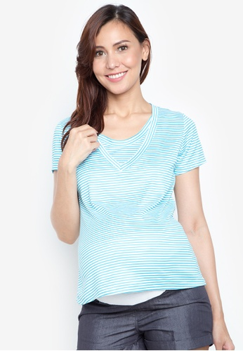 Mommy Plus blue Beatrice Maternity Top MO015AA74VKVPH_1