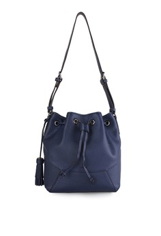 Image of Navy Classic Bucket Bag