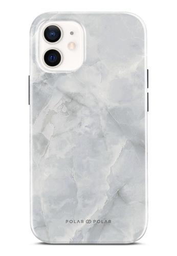 Polar Polar 灰色 灰色雲石紋雙層光面手機殼 iPhone 12 mini 6BB58ACAD9A9C6GS_1