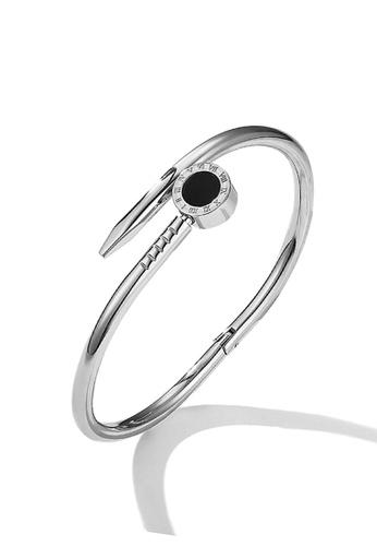 CELOVIS silver CELOVIS - Lucille in Black Nail Bangle (Silver) 93F8FACD9A147DGS_1