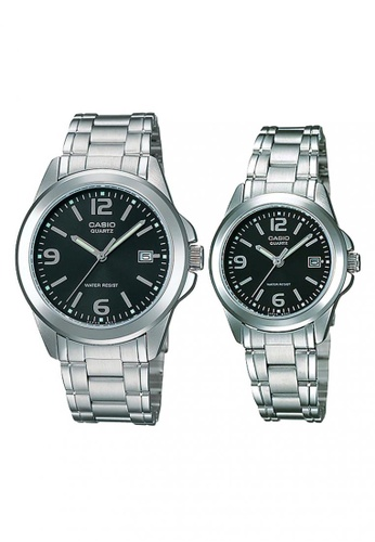 Casio silver Casio Couple Watch for Men and Women MTP/LTP-1215A-1A Stainless Steel Band Casual Watch 864E8AC9549E59GS_1