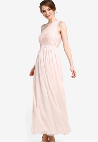 ZALORA pink Bridesmaid Toga Maxi Dress B2322AA1C8A062GS_1