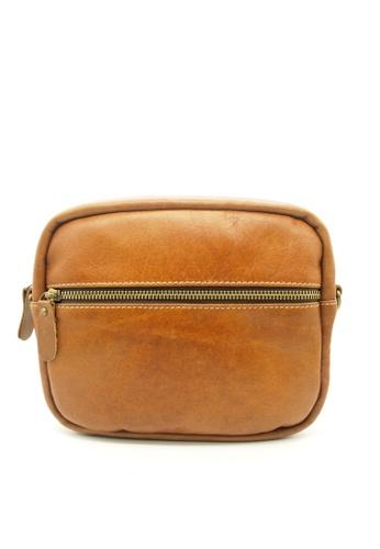 LUXORA brown Top Grain Leather Sling Shoulder Bag LU926AC0F7JUSG_1