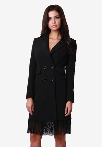 NOBASIC black Fringed Dress Blazer NO183AA0KB31PH_1