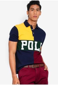 be057c6747 Polo Ralph Lauren multi and gold Custom Slim Fit Basic Mesh Polo Shirt  6871BAAB9F4650GS_1